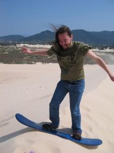 Dorneles sandsurfing